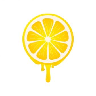 新鮮な柑橘系の果物とバナー