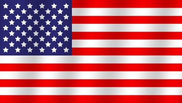 オリジナルでシンプルなアメリカ合衆国の国旗。