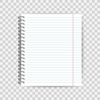 Пустой шаблон на линованной бумаге, одна страница, тетрадь