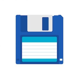 磁気フロッピーディスクフラットアイコン。