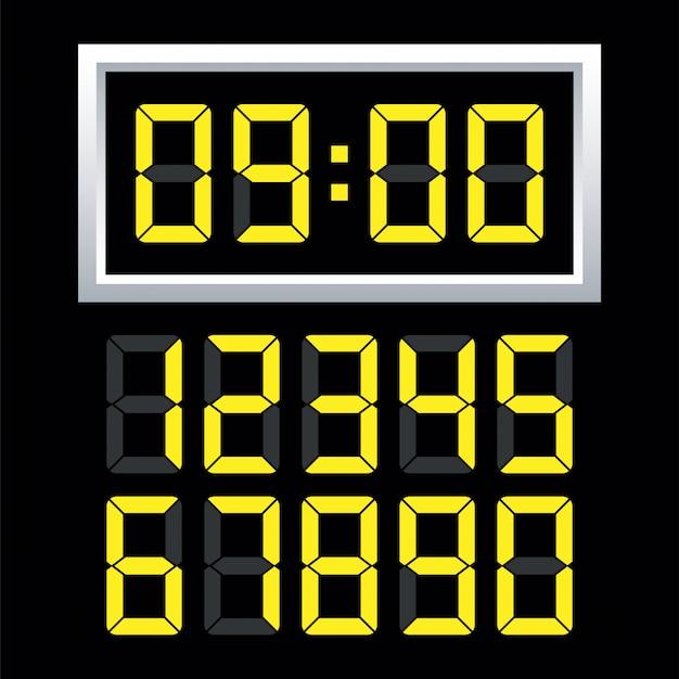Набор цифровых часов.