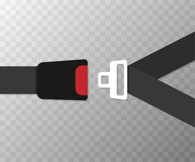 安全ベルトのフラットなデザイン。