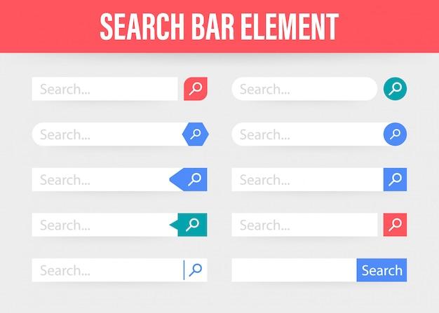 Задать элемент панели поиска, набор шаблонов интерфейса поиска
