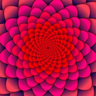 抽象的な背景ピンクのスパイラル花。抽象的な蓮の花。難解なマンダラシンボル。