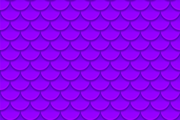 カラフルな紫紫魚の鱗のシームレスパターン。