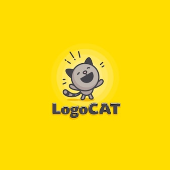 Счастливый кот логотип