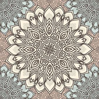 Высокодетализированные мандалы бесшовные модели в пастельных тонах. этнический мотив.
