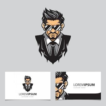 Логотип и визитная карточка телохранителя