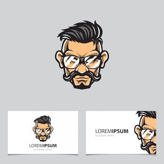Логотип парикмахера и визитная карточка