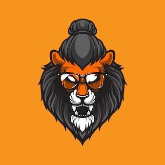 Иллюстрация логотипа головы льва