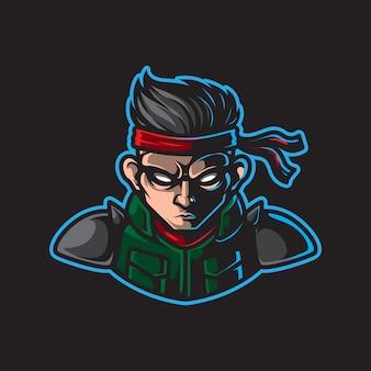 戦士のマスコットロゴ