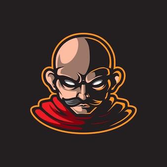 男性の肖像マスコットロゴ