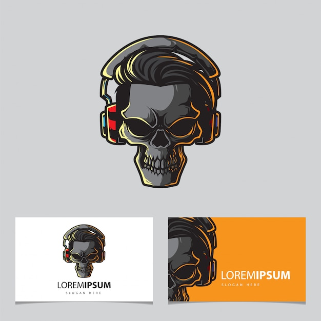 Шаблон игрового черепа