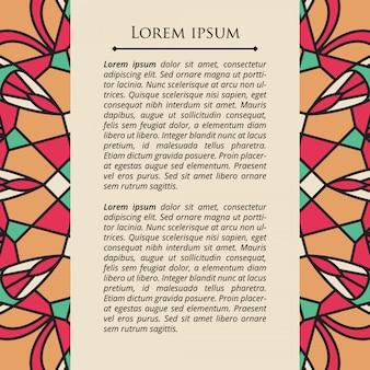 Мандала плакат мозаика элемент вектора
