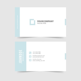 Современная простая коллекция шаблонов визитных карточек