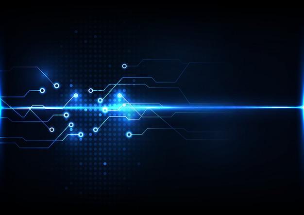 抽象的なデジタル技術回路の背景