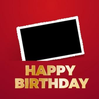 写真、空白のフレームとお誕生日おめでとう