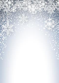 降雪と氷の結晶と冷たいクリスマス