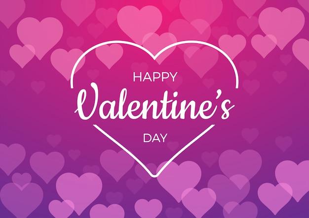 Фон на день святого валентина с розовыми сердечками