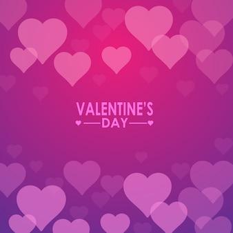 Фон на день святого валентина с розовыми сердечками. баннер, сайт, открытка, приглашение.