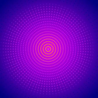 Яркий полутоновый круглый фон