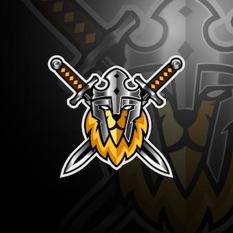 Королевская голова льва с логотипом игрового киберспорта