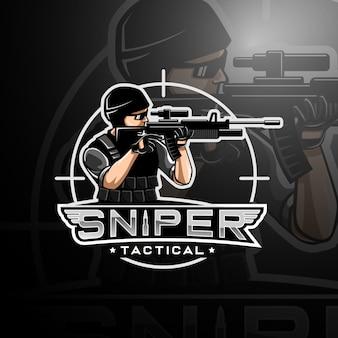 Снайперский логотип игрового киберспорта