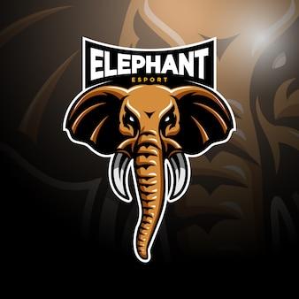 Логотип слона головы киберспорта
