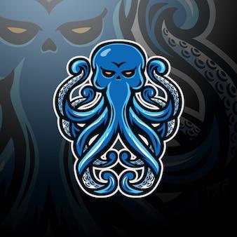 Осьминог логотип киберспорт