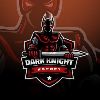Темный рыцарь с логотипом игрового киберспорта
