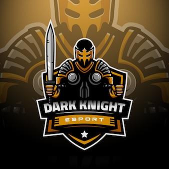 Темный рыцарь с логотипом киберспорта