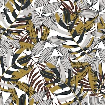 ハワイアンスタイルのベクトルのシームレスな背景。ファッションプリント、プリント、ファブリック、テキスタイル。