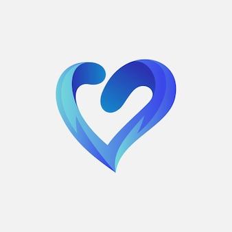 あなたの会社のための愛のロゴデザイン