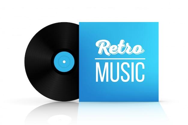 紙箱のビニールレコードディスク