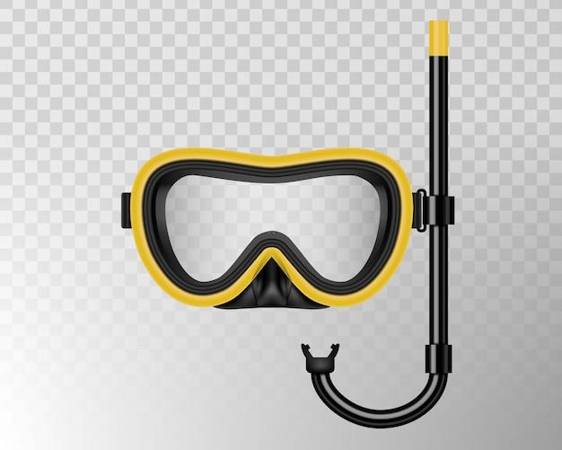 Подводное плавание, плавательная маска с трубкой