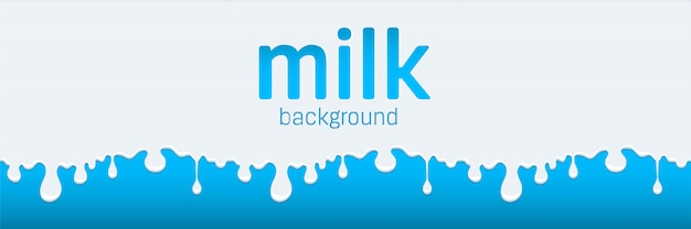 牛乳の流れとドリップスプラッシュドロップクリーム。