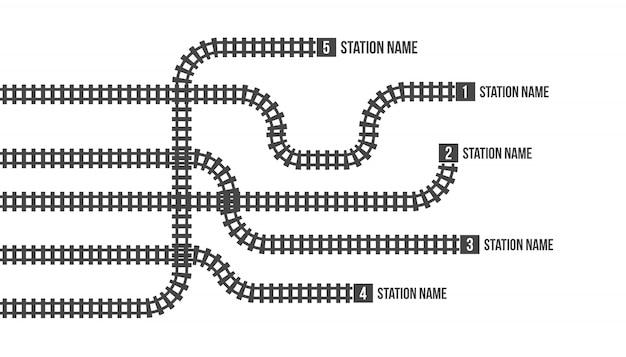 鉄道駅地図、地下鉄、インフォグラフィック、鉄道。