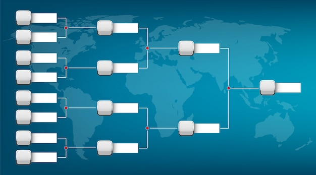 График плей-офф с двумя шаблонами конференции.