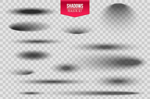 丸みを帯びた楕円形の影と柔らかいエッジが設定されています。