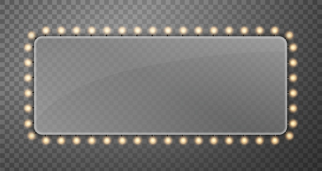 Блеск струнных лампочек баннер рекламный щит огни.