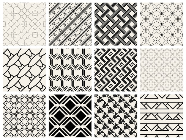 白黒の幾何学模様を設定します。
