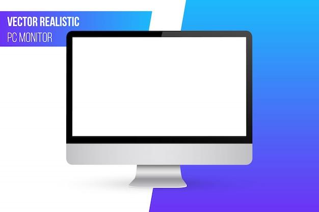 モニターは空白の画面でモックアップします。