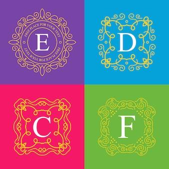 Векторные винтажные вензель логотип.