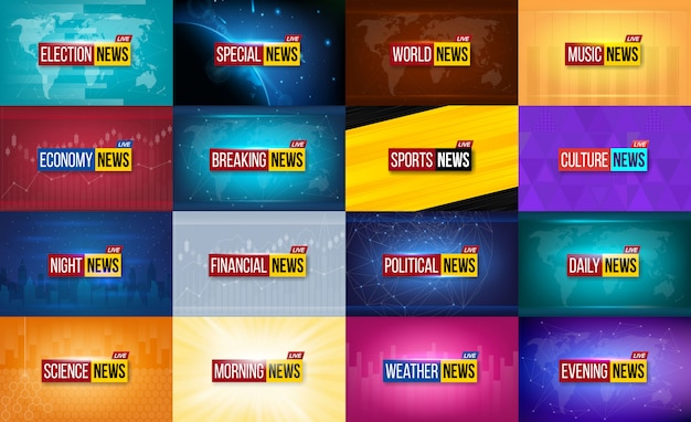 ニュース放送の背景。