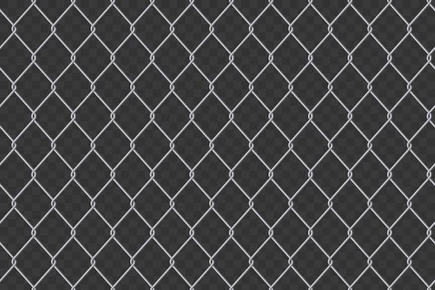 チェーンリンクフェンスワイヤメッシュ鋼金属の背景。
