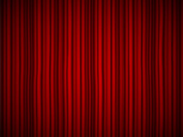 高級緋色のシルクビロードのドレープ、背景布カーテン