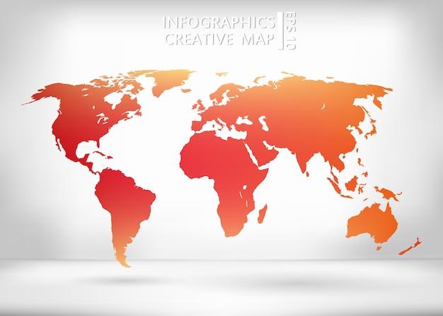 世界地図のイラスト。
