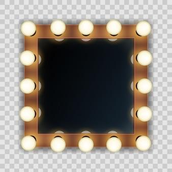 ライト付き、立体的なマーキーミラー付き化粧フレーム