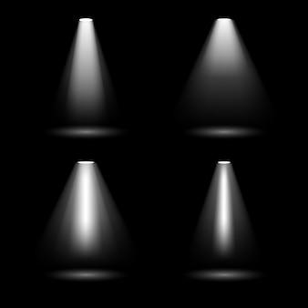 明るい照明スポットライト、光、照明。
