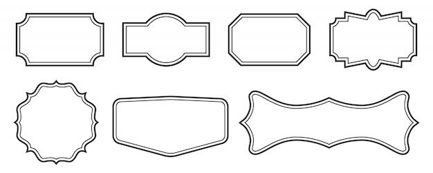 装飾的なビンテージフレーム、枠線のラベル、フレーム。
